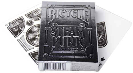 Bicycle Playing Cards - Silver Steampunk