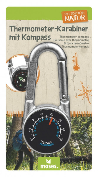 Expedition Natur Thermometer-Karabiner mit Kompass