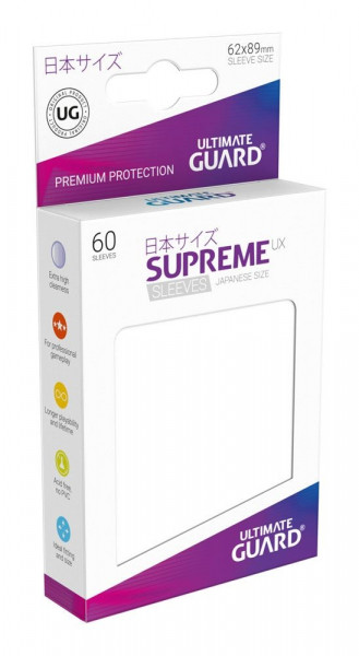 Ultimate Guard - Supreme UX Sleeves 62x89 (60), white