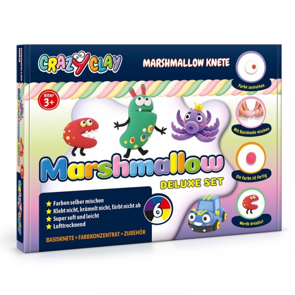 Crazy Clay - Marshmallow-Knete Deluxe-Set