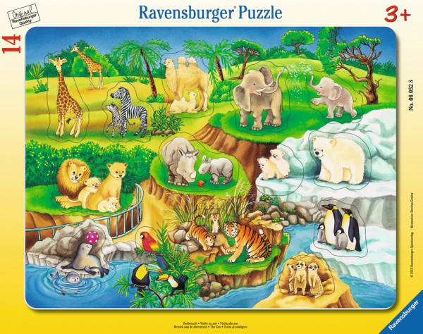 Ravensburger Puzzle - 14 Teile: Zoobesuch