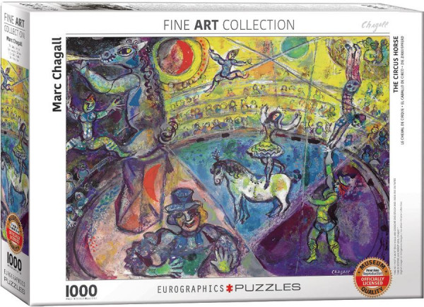 Eurographics Puzzle - Marc Chagall: The Circus Horse - 1000 Teile